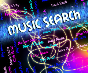 Music Search Means Melodies Exploration And Acoustic