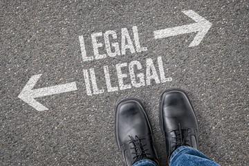 Entscheidung an der Kreuzung - Legal oder Illegal