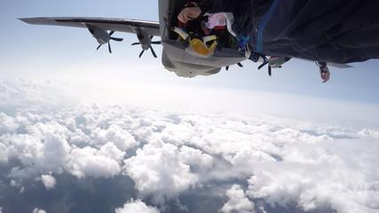 Wingsuit exit from c130J hercules