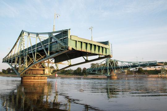 Rotating bridge in Liepaja, Latvia.