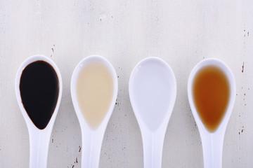 Various types of Vinegar.