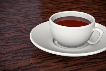 3D Coffee or Chocolate Cup Isolated Background.