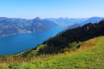 Switzerland, mountain and lake