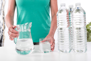 Concept of the importance of hydration