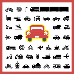 vector icon for transport