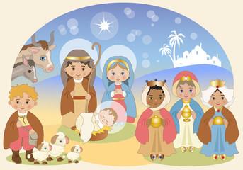 Presepe Colori Pastello - Nativity