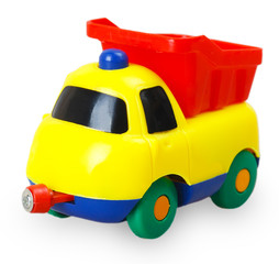 Colored plastic baby car
