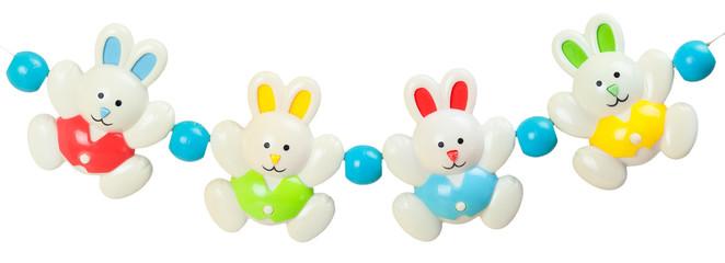 Plastic garland of bunnies