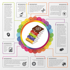 Modern work management planning infographics. Business concept. Vector illustration