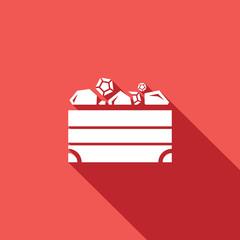Treasure chest icon. Vector Illustration.