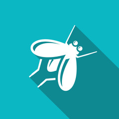 Fly insect icon. Vector Illustration.