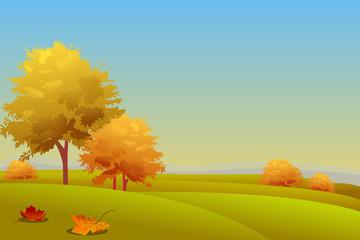 Autumn Country side Landscape
