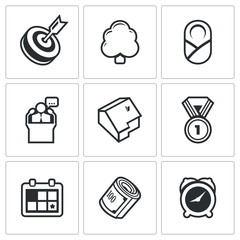 Incentives life icons. Vector Illustration.