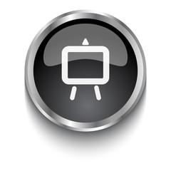 White Easel symbol on black web button