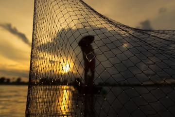 Nets Fishermen on the boat