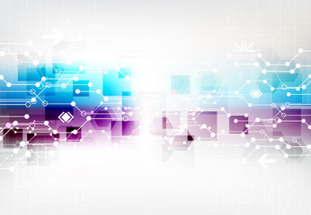 Abstract color digital communication technology background.