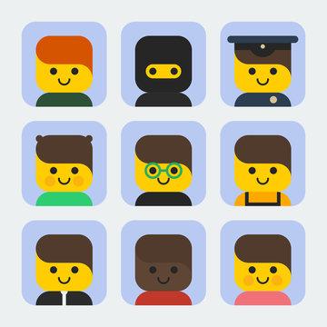 Flat Geometric Set Icons