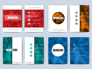 Set of polygonal brochure