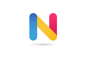 N letter vector logo icon template