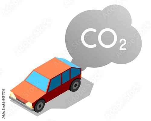 voiture qui roule en d gageant une pollution co2 fichier vectoriel libre de droits sur la. Black Bedroom Furniture Sets. Home Design Ideas