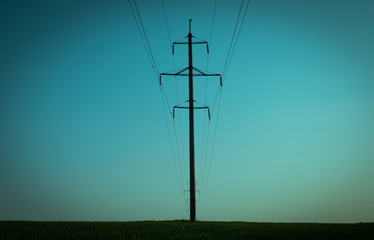 Power line in the night