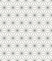 Vector seamless texture. Modern abstract background. Repeating geometric pattern stars inscribed in a hexagon.