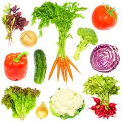 Fototapete - Fresh vegetables set.