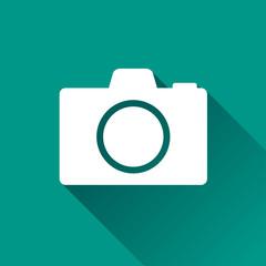 camera flat design icon