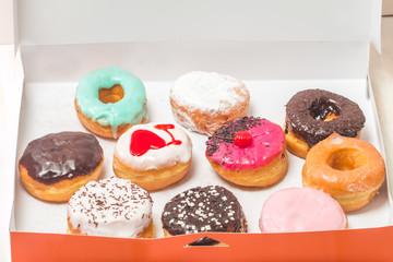 assorted donuts in a box