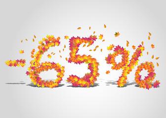 Vector autumn discount price