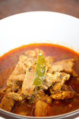 Pork curry spicy Thailand food style.