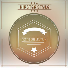 Hipster icon with vintage and retro style