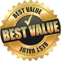 golden best value sign