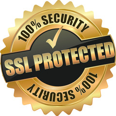 gold ssl protected sign