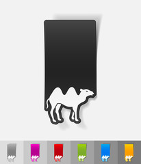 realistic design element. camel
