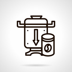 Coffee grinder simple line vector icon