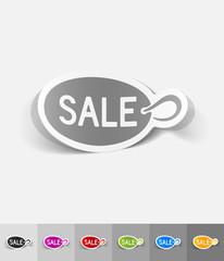 realistic design element. plate sale