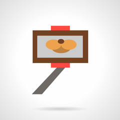Selfie stick simple flat vector icon