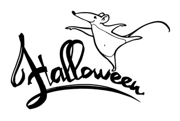 Halloween vector party lettering