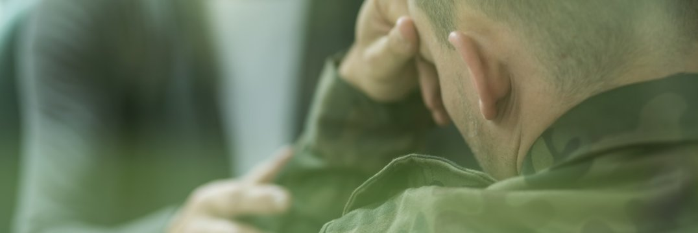 Soldier suffering from emotional breakdown