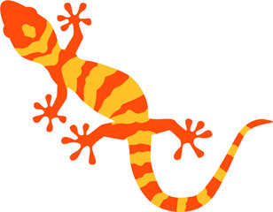 Gecko with orange and yellow pattern