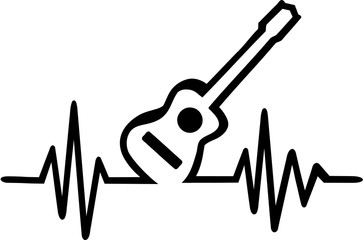 Acoustic guitar cardiac frequence