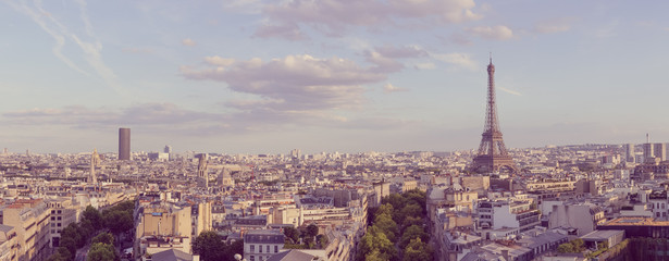 Poster Parijs paris panoramic landscape