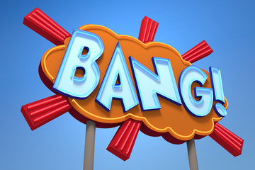 BANG! Sound Effect Neon Sign