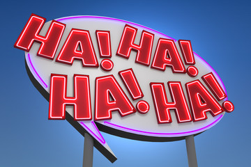 HA! HA! HA! HA! Sound Effect Neon Sign