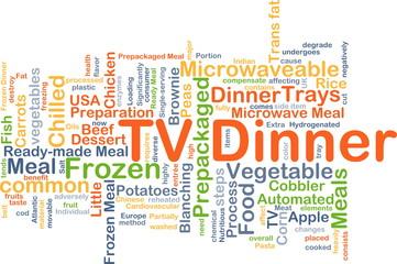 TV dinner background concept