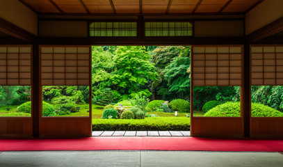 Printed roller blinds Kyoto 京都 雲龍院 庭園