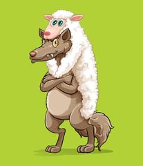 Wolf wearing sheep fur