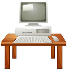 Computer set on the table