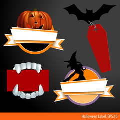 Vector Illustration of halloween label